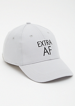 Gray Extra AF Dad Hat