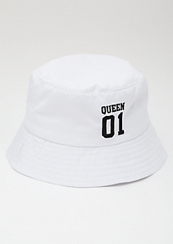 Queen 01 White Bucket Hat