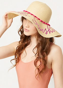 Pink Hello Sunshine Sun Hat