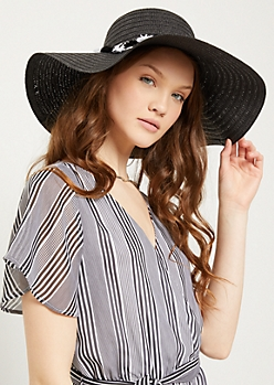 Black Tassel Straw Sun Hat