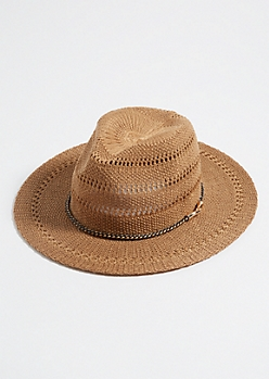 Brown Braided Cord Sun Hat