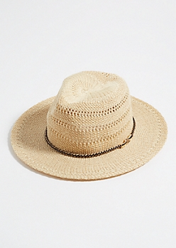 Tan Braided Cord Sun Hat