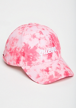 Pink Tie Dye Queen Embroidered Dad Hat