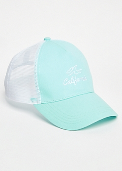 Mint California Waves Trucker Hat