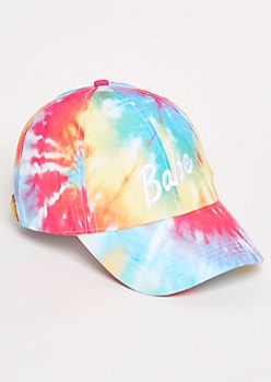 Rainbow Tie Dye Babe Twill Dad Hat