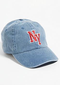 Medium Wash Denim NY Dad Hat