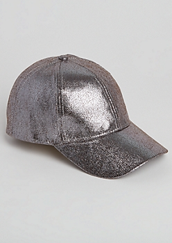 Silver Crackled Dad Hat