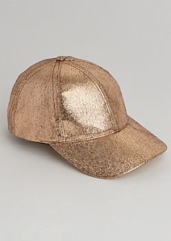 Rose Gold Crackled Dad Hat