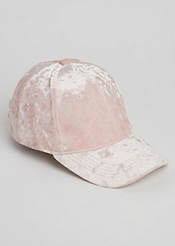 Pink Velour Dad Hat