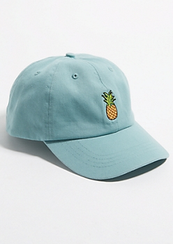 Teal Pineapple Dad Hat