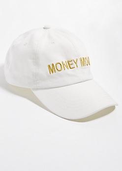 White Metallic Money Moves Dad Hat