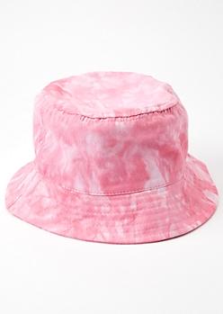 Pink Tie Dye Bucket Hat