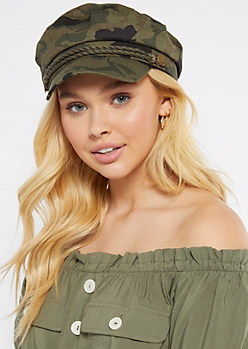 Camo Print Rope Cabby Hat