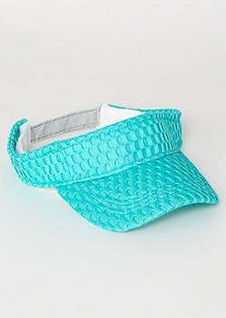 Blue Mesh Knit Visor