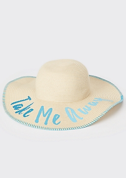 Take Me Away Straw Sun Hat