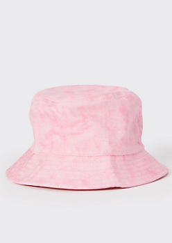 Pink Wash Denim Bucket Hat