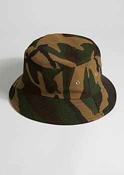 Dark Camo Bucket Hat