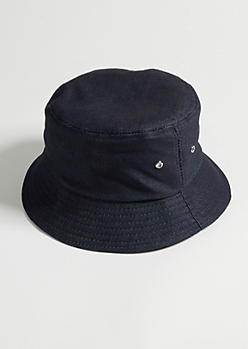 Dark Blue Denim Bucket Hat