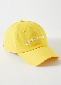 Yellow More Self Love Embroidered Dad Hat