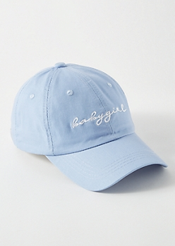 Blue Baby Girl Embroidered Dad Hat
