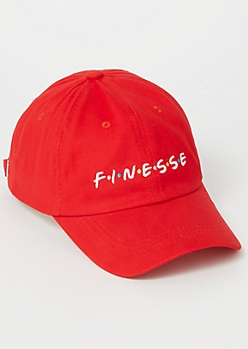 Red Dot Finesse Embroidered Dad Hat
