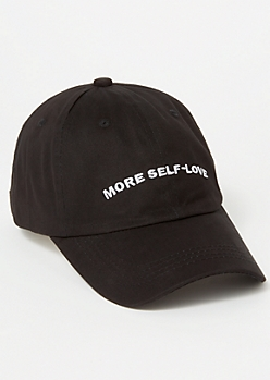 Black More Self Love Embroidered Dad Hat