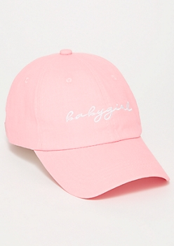 Pink Embroidered Baby Girl Dad Hat