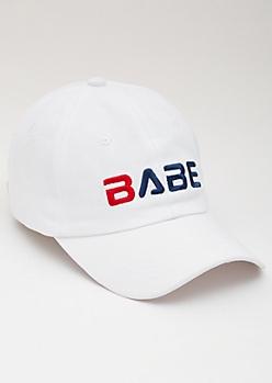 Babe White Dad Hat