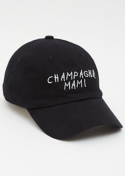 Black Champagne Mami Dad Hat