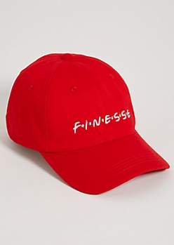 Red Finesse Twill Dad Hat