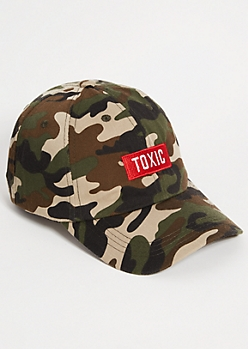 92b5f255efd5d Camo Print Toxic Patch Twill Dad Hat