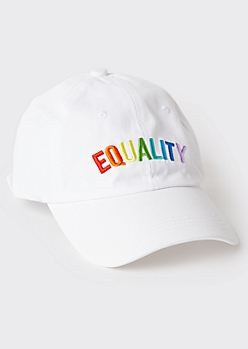 Rainbow Equality Embroidered Dad Hat