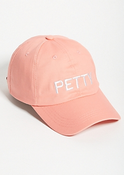 Pink Petty Twill Dad Hat