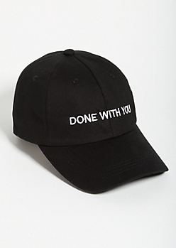 Black Done With You Twill Dad Hat