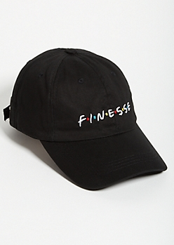 Black Finesse Twill Dad Hat