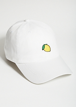 White Lemon Twill Dad Hat