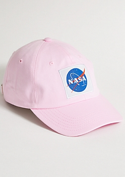 Pink NASA Twill Dad Hat