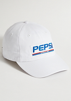 07718dbfe0004 White Pepsi Genuine Twill Dad Hat