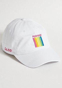White Rainbow Polaroid Est 1937 Dad Hat