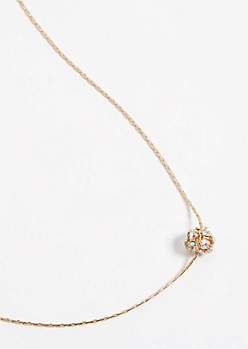 Gold Gemstone Bead Necklace