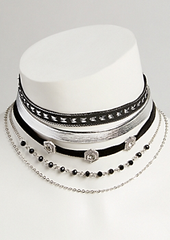 5-Pack Western Choker Necklace Set