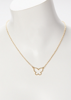Gold Butterfly Chain Necklace