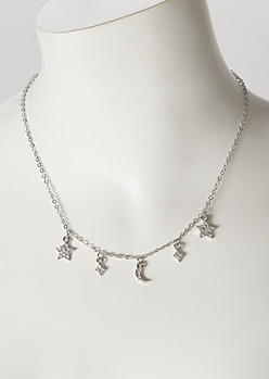 Silver Mini Celestial Charm Necklace