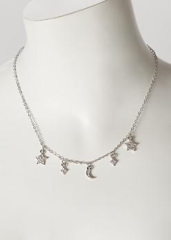 Silver Mini Celestial Charm Necklace