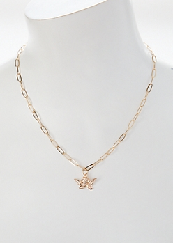 Gold Cherub Chain Necklace