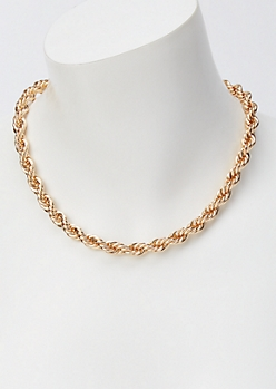 Gold Chunky Rope Chain