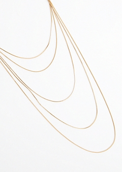 Golden Layered Chain-Link Necklace