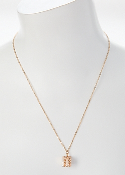 Gold Dice Charm Necklace