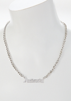 Silver Antisocial Chain Necklace