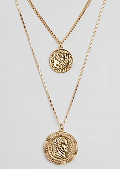 Antique Coin Layered Necklace